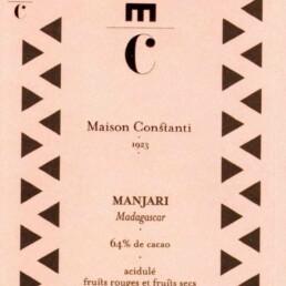 Manjari chocolaterie Maison Constanti