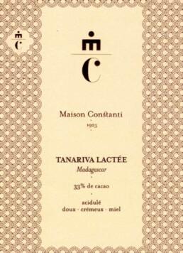 Tanariva Lactée chocolat au lait Maison Constanti