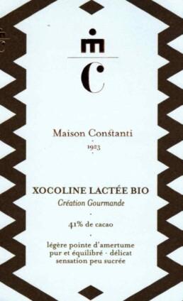 Xocoline Lactée chocolaterie Maison Constanti
